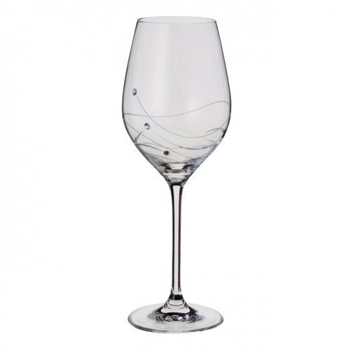 Dartington Crystal Glitz Wine Glass 0.33L (Pair)
