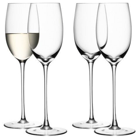 LSA Wine Clear Set of 4 White Wine Glasses 340ml