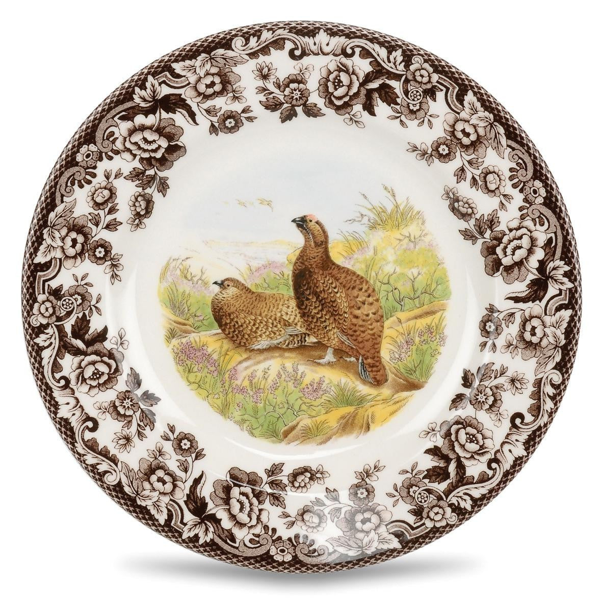 Spode Woodlands Red Grouse Salad Plate 20cm