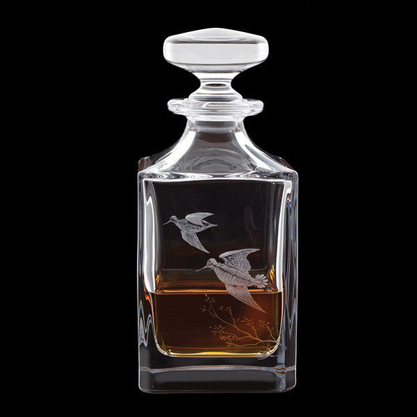 Royal Brierley Engraved Woodcock Decanter 0.65L