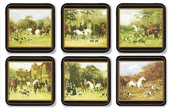 Pimpernel Tally Ho Coasters 10.5cm By 10.5cm (Set Of 6)
