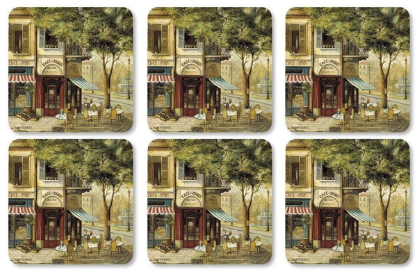 Pimpernel Parisian Scenes Coasters 10.5cm By 10.5cm (Set Of 6)