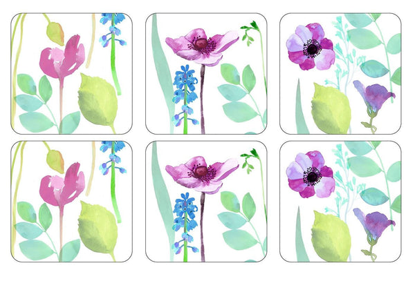 Portmeirion Water Garden Coasters 10.5cm by 10.5cm (Set of 6)
