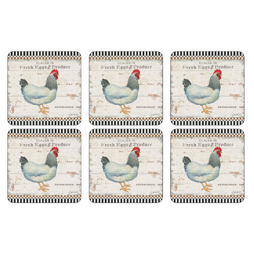 Pimpernel On The Farm Coasters 10.5cm By 10.5cm (Set Of 6)