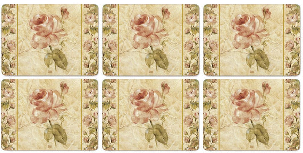 Pimpernel Antique Rose Linen Placemats 30.5cm By 23cm (Set Of 6)