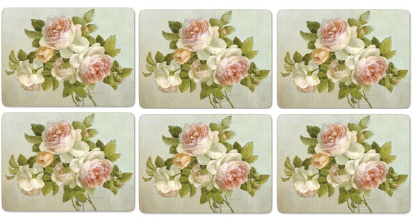 Pimpernel Antique Rose Placemats 30.5cm By 23cm (Set Of 6)