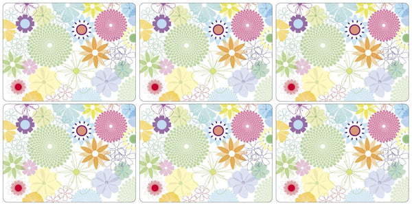 Portmeirion Crazy Daisy Set of 6 Placemats 30.5cm by 23cm
