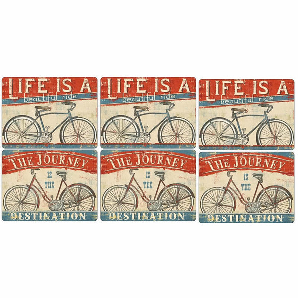 Pimpernel Beautiful Ride Placemats 30.5cm By 23cm (Set Of 6)