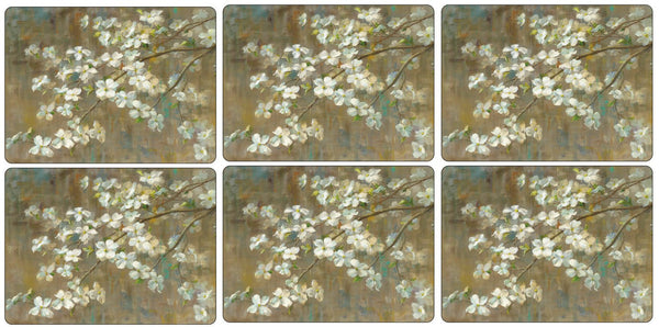 Pimpernel Dogwood In Spring Placemats 30.5cm By 23cm (Set Of 6)