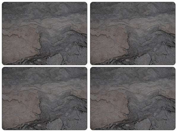 Pimpernel Midnight Slate Placemats 40.1cm By 29.8cm (Set Of 4)