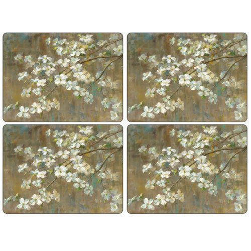 Pimpernel Dogwood In Spring Placemats 40.1cm By 29.8cm (Set Of 4)