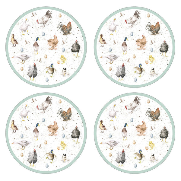 Royal Worcester Wrendale Designs Farmyard Feathers Placemats 31cm (Set of 4)