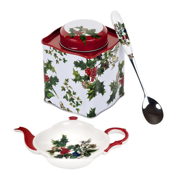 Portmeirion The Holly and The Ivy 3 Piece Tea Set