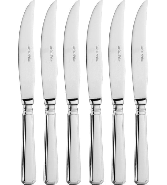 Arthur Price Classic Grecian Box of 6 Steak Knives