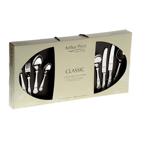 Arthur Price Classic Kings Solid Handled 44 Piece Boxed Set