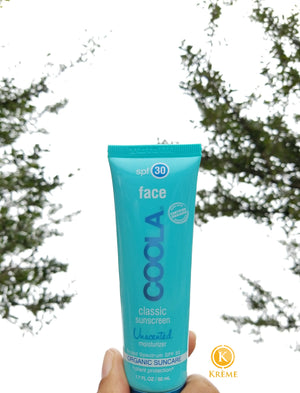 COOLA CLASSIC FACE SPF 30, UNSCENTED