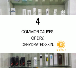 4 MOST COMMON CAUSES OF DEHYDRATED, DRY SKIN