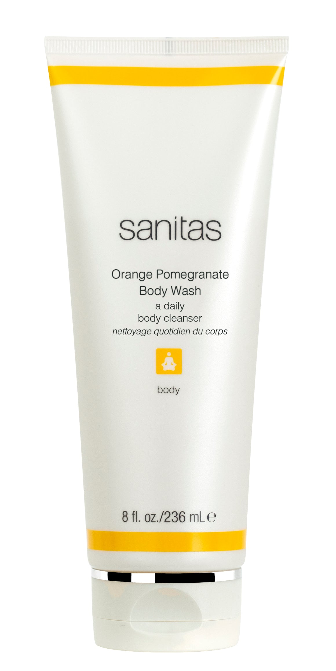 Sanitas Orange and Pomegranate Body Wash (a daily body cleanser)