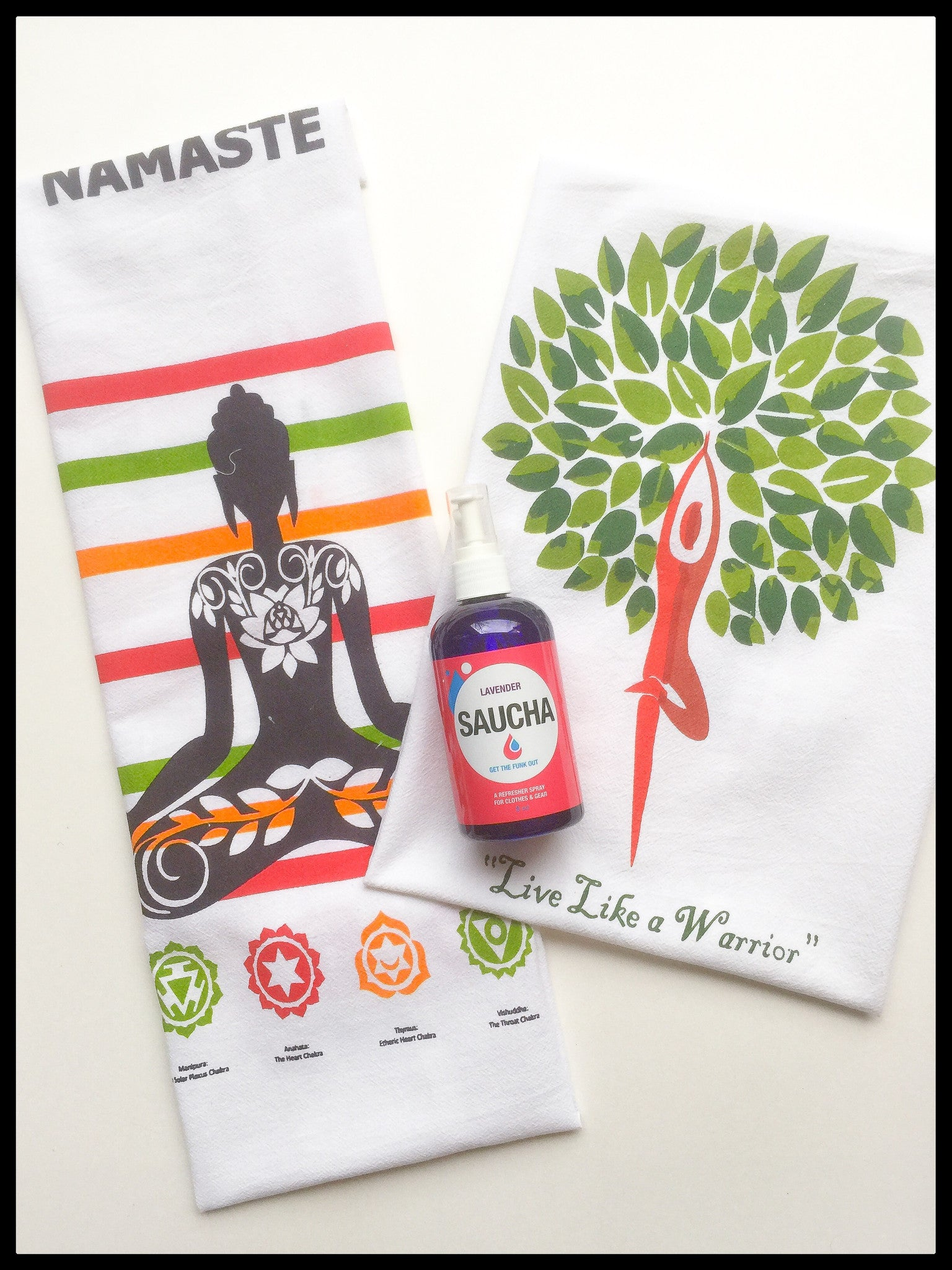 Saucha Spray + Yoga Inspired Towel Set