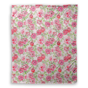 Elizabeth Rose Pink Throw Blanket