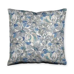 Painterly Floral Grey Throw Pillow