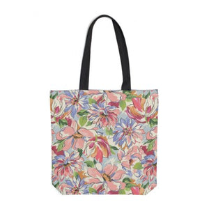 Painterly Floral Pink Tote Bag