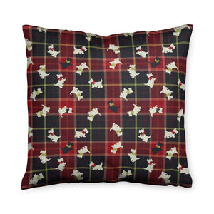 Scottie Plaid Throw Pillow