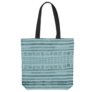Deep Ocean Stripe Tote Bag