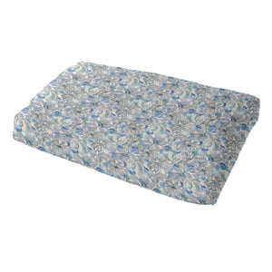 Painterly Floral Grey Pet Bed