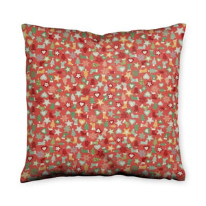 Holiday Fiesta Red Throw Pillow