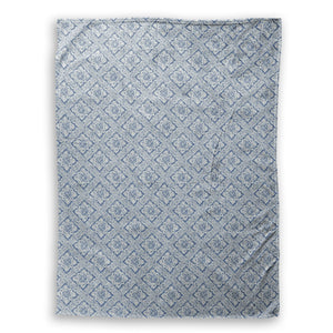Tile Blue Throw Blanket