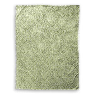 Tile Green Throw Blanket