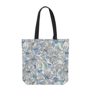 Painterly Floral Grey Tote Bag