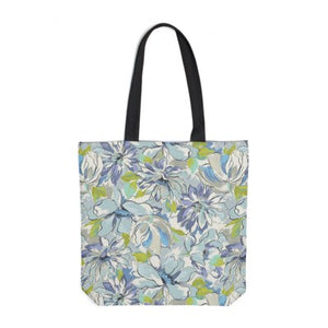 Painterly Floral Green Tote Bag