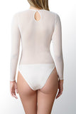 bodysuit sheer stretch bridal cover up long sleeves round neck bodysuit arm cover mesh tulle jacket shawl