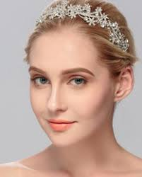 Bridal cover up sheer bodysuit wedding accessories bridal wear  head tiara headband jewels and stones