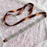 Wedding Sash Belt Beaded Bridal Belt Crystal and Pearl Sash Belt.