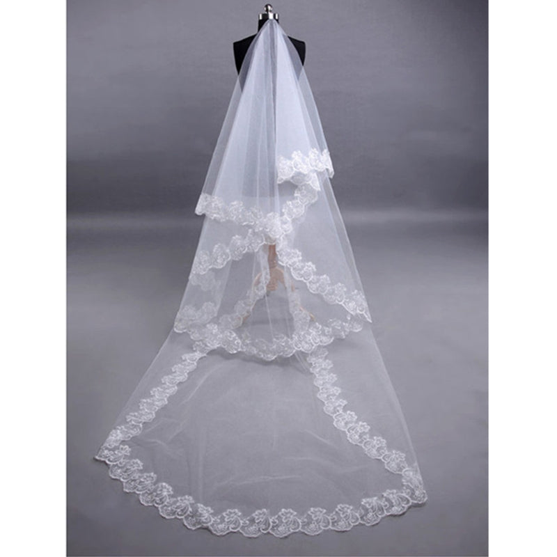 Wedding Veil Voile Marriage Lace Veil long bridal veil