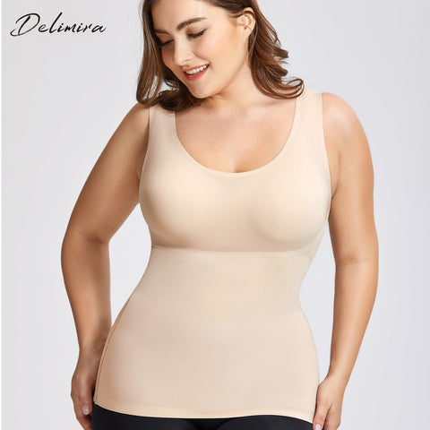 Women's Tummy Control Shapewear Smooth Body Shaping Camisole Basic Tank Tops