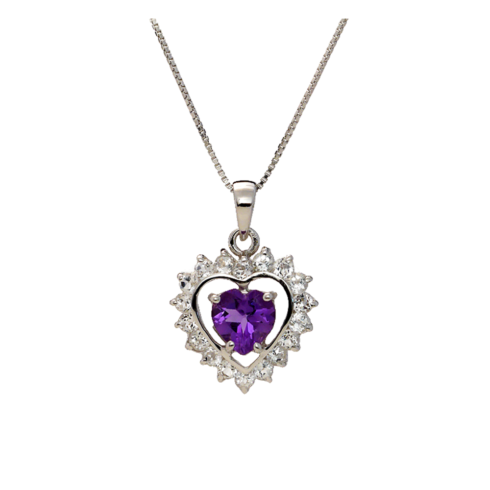 Semi-Precious Stones and White Cubic Zirconia Pendants - Suphiras