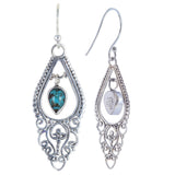 Balinese Style with 5x7 Pear Shape Dangling Earring