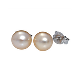 Sterling Silver Fresh Water Cultured Pearls Stud Earrings