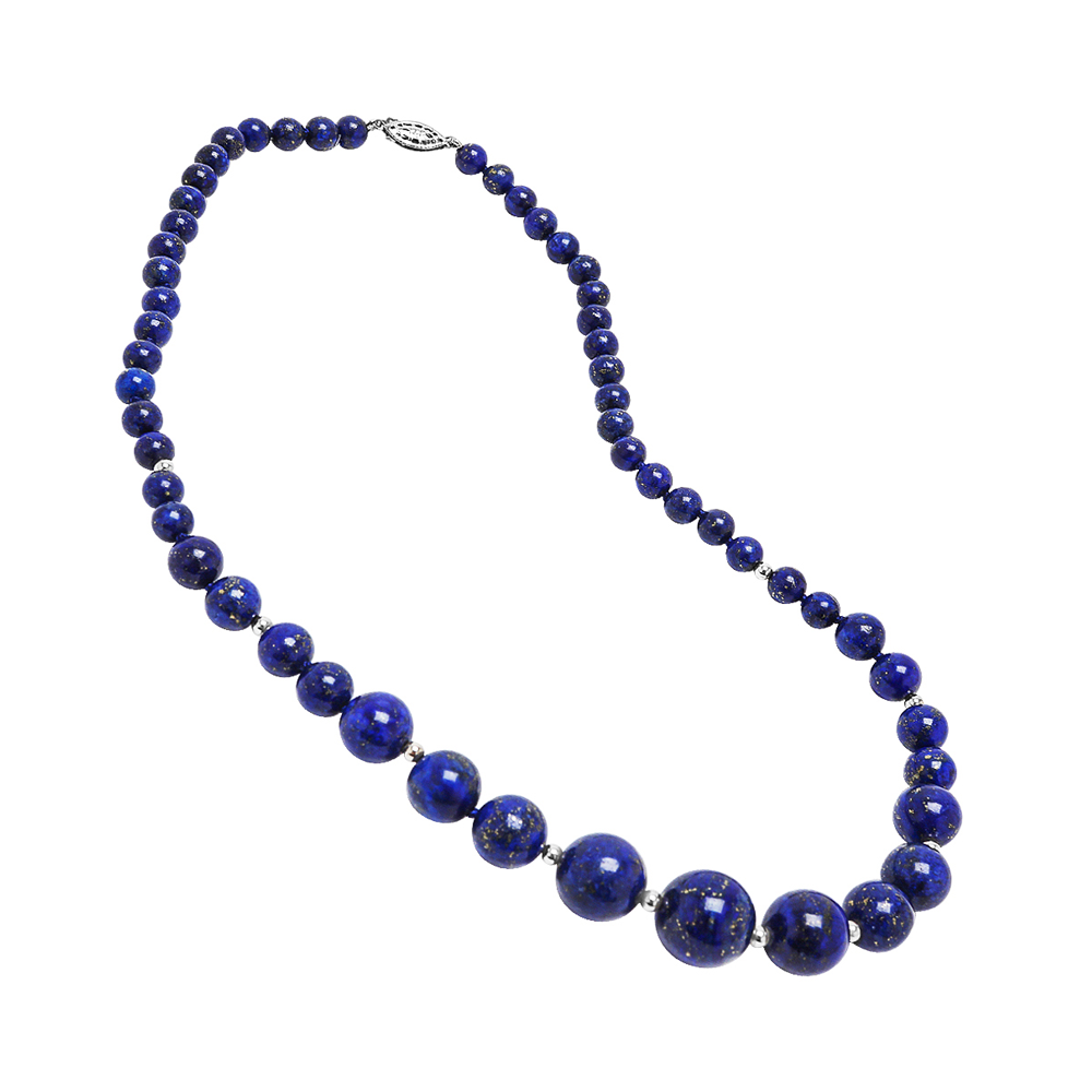Graduated Lapis Necklace