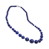 Genuine Graduated Lapis Stones with Sterling Silver