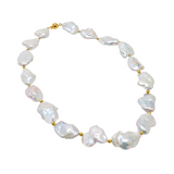 Fresh Water Cultured Baroque Pearls and 14K Yellow Gold