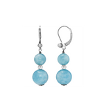 Aquamarine Dangling Leverback Earring