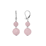 Faceted Opaque Stones Sterling Silver Dangling Leverback Earrings Collection - Suphiras