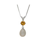 Semi-Precious Stones with Fresh Water Culutred Pearl Pendant