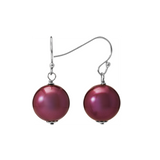 Sterling Silver Shell Pearl Dangling Euro Wire Earrings - Suphiras