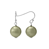 Sterling Silver Shell Pearl Dangling Euro Wire Earrings